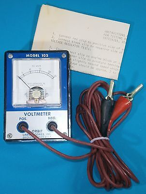 Vintage Orbit Laboratories Dc Voltmeter 0-25 Vdc Bakelite Back