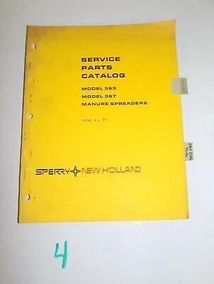 New Holland Service Parts Catalog Model 363 367 Manure Spreader 5036320