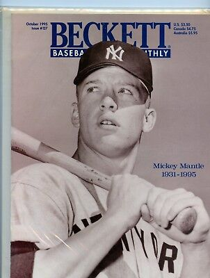 MICKEY MANTLE New York Yankees October 1995 Beckett Issue # 127