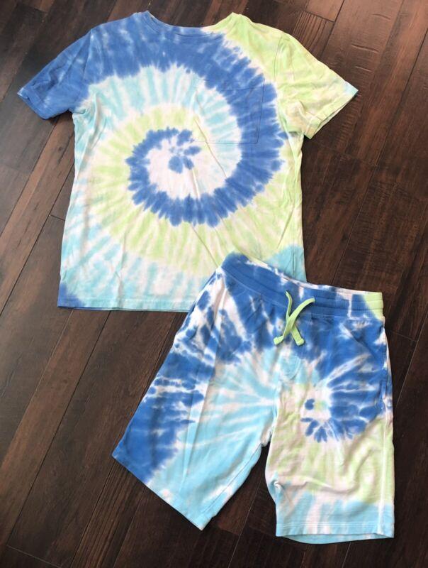 Boys Wonder Nation Size XL 14/16 Husky Tie Dye Shirt Shorts Outfit