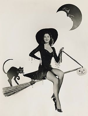 Halloween Pin Up (Ava Gardner Halloween Pin up High Quality Metal Magnet 3 x 4 inches)