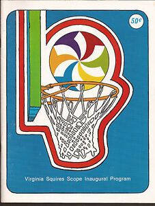 1971-ABA-Basketball-Nov-23rd-Squires-Cougars-Program-SCOPE-Center-DEBUT-DR-J