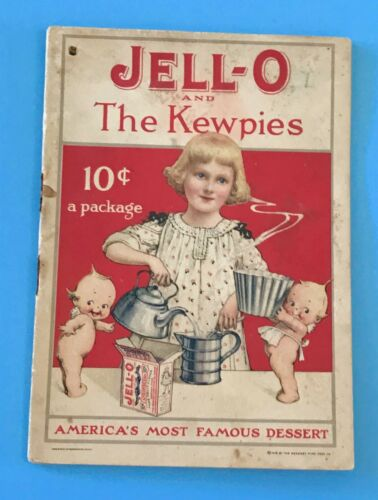 Vintage Antique 1915 Jell-O Advertising Recipe Booklet Kewpies Rose O