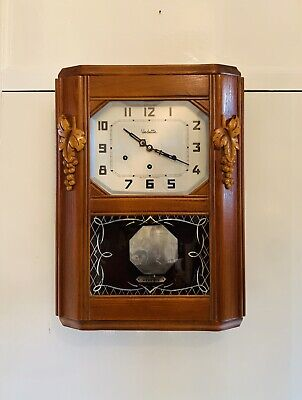 Great looking Vintage French Vineyard Westminster chiming Clock by Vedette