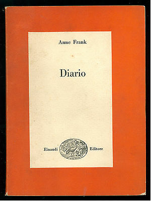 FRANK ANNE DIARIO EINAUDI 1955 SAGGI 175 OLOCAUSTO EBRAICA II GUERRA MONDIALE