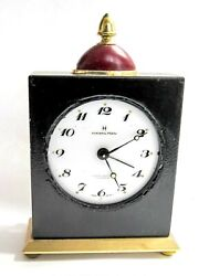 HAMILTON MODERN DECO - 8 DAYS SWISS VINTAGE ALARM CLOCK  (A1)