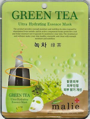 Malie Ultra Hydrating Essence Maskpack Korean Masksheet Cosmetics GREENTEA 1 pcs