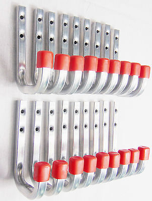 20x Wandhaken Schraubhaken Profilhaken Allzweckhaken Haken Stahl 80 x 120 mm NEU