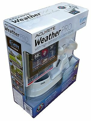 Acu-Rite 5 in 1 Color Weather Station Wireless Remote Sensor Rain Wind Humidity