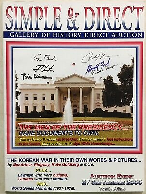SIMPLE & DIRECT 2000 CATALOG PRESIDENTS HISTORICAL, ENTERTAINMENT ICONS PLUS