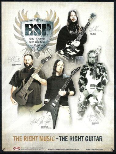 ESP Guitars 2008 ad Stephen Carpenter Michael Paget Max Cavalera Will Adler