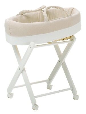 Used, Hugs Factory Moses Basket with stand for sale  Shipping to South Africa