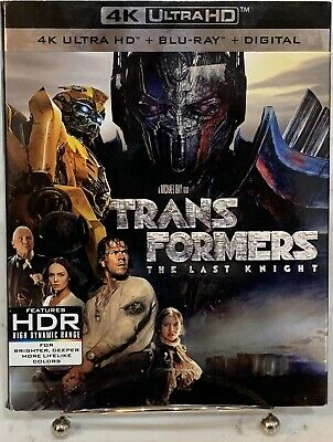 Transformers The Last Knight 4K Ultra HD + Blu-ray + Digital W/ Slipcover NEW!