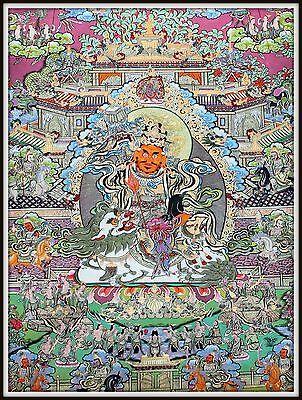 """Mysterious!   """"Thankga Fine Art Print from Tibet""""   (35"""" High x 25.5"""" Wide)"""