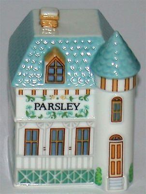 Lenox Porcelain Village Spice Jar ~ Parsley ~ 3