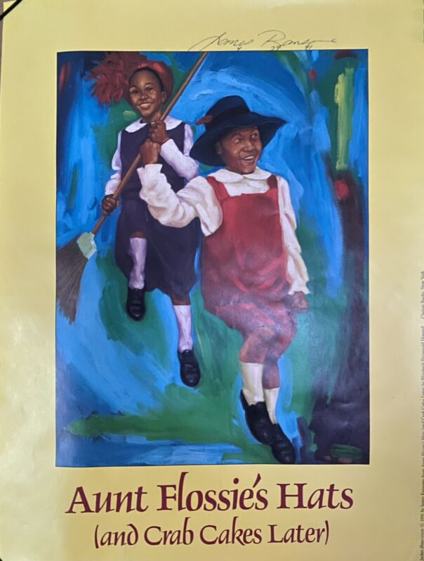 vintage 1991 Poster Book Promo Signed By James Ransome, Illustrator, NAACP Award
