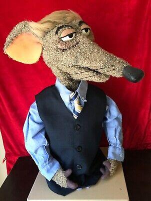 Professional Politician Rat Puppet - muppet style Hand puppet - ventriloquist