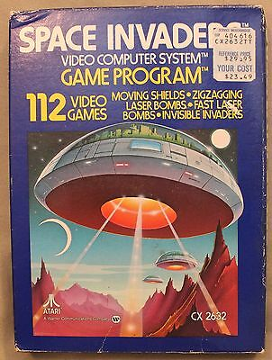 M Original Atari 2600 Cx 2632 Space Invaders Video Computer System Game Program
