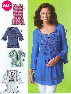 NEW Easy Miss Plus Size 16-26 Tops & Tunic Uncut Sewing Pattern McCalls 7128