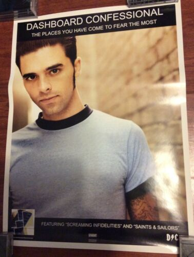 DASHBOARD CONFESSIONAL PLACES YOU HAVE COME FEAR CHRIS CARRABBA PROMO POSTER NEW