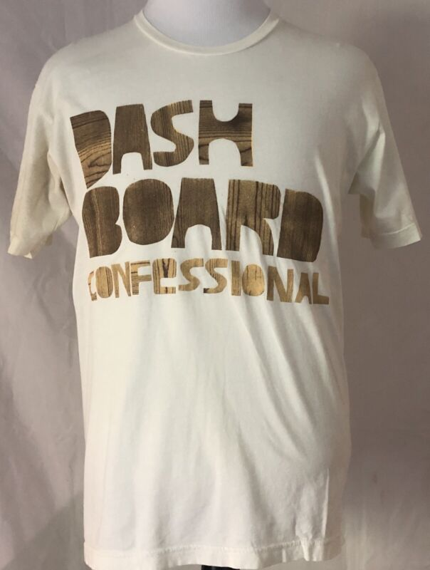 Dashboard Confessional 2006 Dusk To Summer Tour White Shirt Size Large
