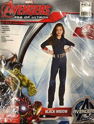 Avengers Age Of Ultron Deluxe Black Widow Child Costume Marvel Comics 12-14 - Black Widow Avengers Age Of Ultron Kostüm