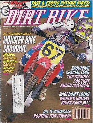 DIRT BIKE - February 1992 - Jean-Michel Bayle / Monster Bike Shootout / Ugliest