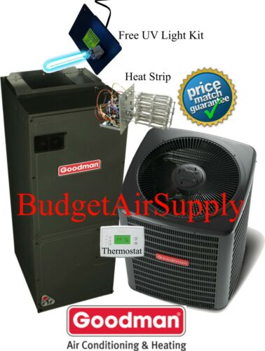 3 Ton 16 Seer Goodman Heat Pump System Gsz160361+aspt37c14+tstat+heat New Model!