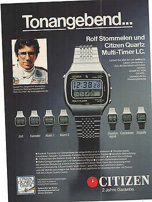 CITIZEN Quartz MULTI - Timer LC - ROLF STOMMELEN - Formel 1 - alte Annonce - Multi-timer