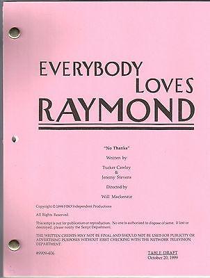 "EVERYBODY LOVES RAYMOND show script ""No Thanks"""
