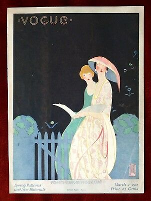 Vogue Magazine Original Cover Only ~ March 1, 1918 ~ Alice Little