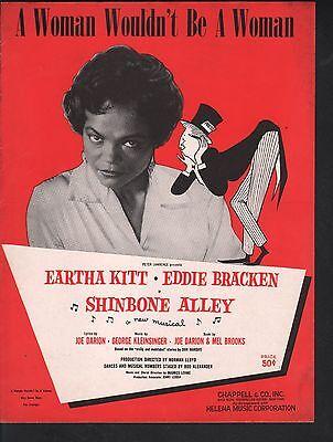 A Woman Wouldn't Be A Woman 1957 Shinbone Alley Eartha Kitt Sheet Music