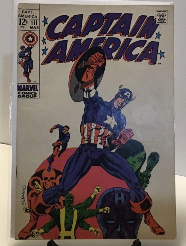 Captain America #111 (1969 Marvel) Jim Steranko Cover Key!