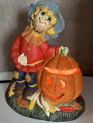 Vintage Dona's Mold Halloween Ceramic Light JACK-O-LANTERN Scarecrow Pumpkins I
