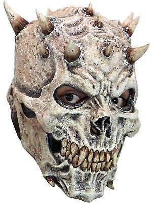 ADULT SPIKES SKULL SKELETON EVIL DEMON LATEX MASK COSTUME TB26647 (Demon Skull Mask)