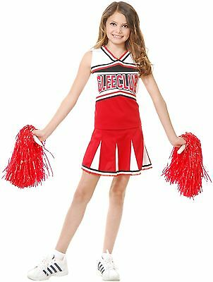 GIRLS GLEE CLUB SCHOOL CHEERLEADER FOOTBALL RUGBY VARSITY CHILD KIDS COSTUME - Cheerleader Kids Costume