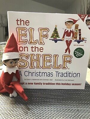 Elf on the Shelf With Christmas Tradition Book and Scout Elf Girl Doll