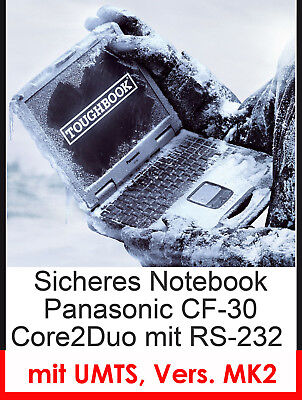 Notebook Panasonic Cf30 Mk2 Splash-Proof 4gb Touch Screen Rs232 Umts Modem Mm