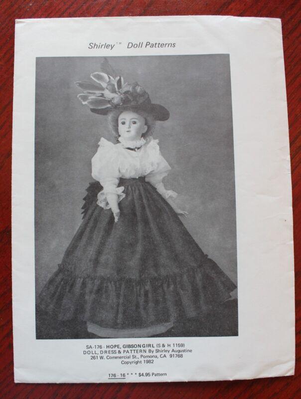 Shirley Augustine Pattern - SA-176 - Hope - Gibson Girl - 1982