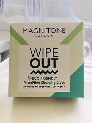 MAGNITONE WIPE OUT ECO FRIENDLY MAKE-UP REMOVER MICROFIBRE CLEANSING CLOTH