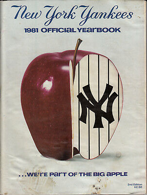 New York Yankees Official Yearbook (1981 New York Yankees Official Yearbook - Stain on Cover )