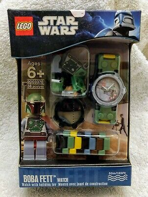 Star Wars Boba Fett Lego Buildable Watch & mini figure (9003370) - NIP