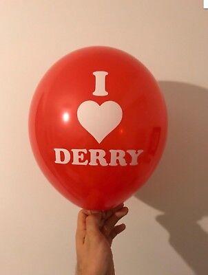 IT Movie red balloon Pennywise clown Fancy Dress I Love Derry Halloween x - Derry Halloween