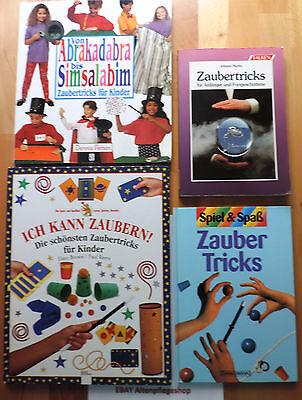 Zaubertricks-Paket mit 4 Büchern: Zaubertricks für Anfänger und Fortgeschrittene