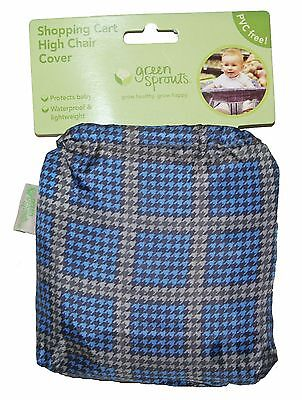 Blue Shopping Cart High Chair Cover Baby Waterproof PVC FREE by Green Sprouts