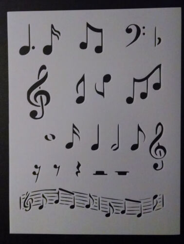"""Sheet Music Musical Notes Note 8.5"""" x 11"""" Stencil FREE SHIPPING"""