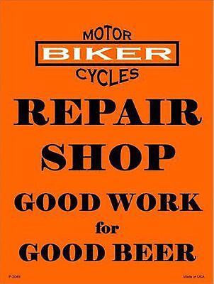 "Indian Motorcycle Garage Shop Metal Sign 18/""x18/""  Round RVG876-18"