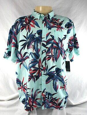 Quiksilver Deep Bay Men's Short Sleeve Button Down Shirt Size XXL Regular Fit