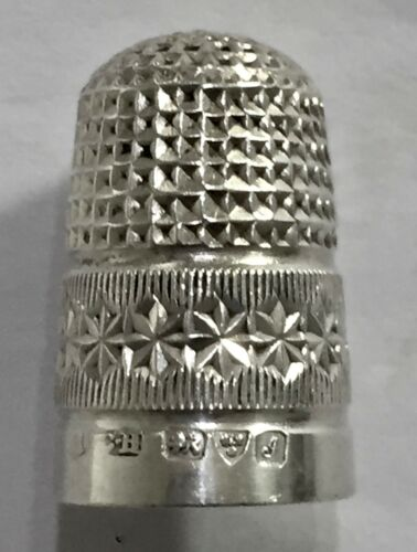 Unusual Chester Charles Horner Sterling Silver Thimble Fully Hallmarked 1909