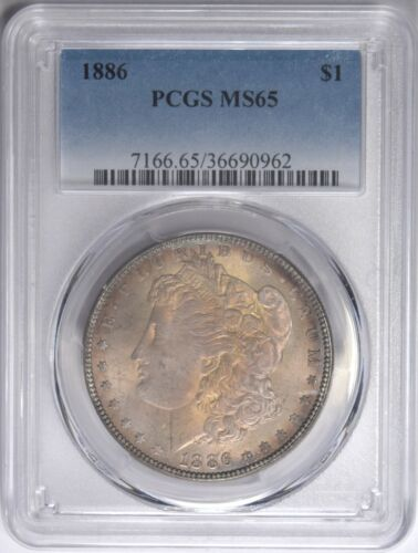 1886 Morgan Silver Dollar PCGS MS-65 Toned #962